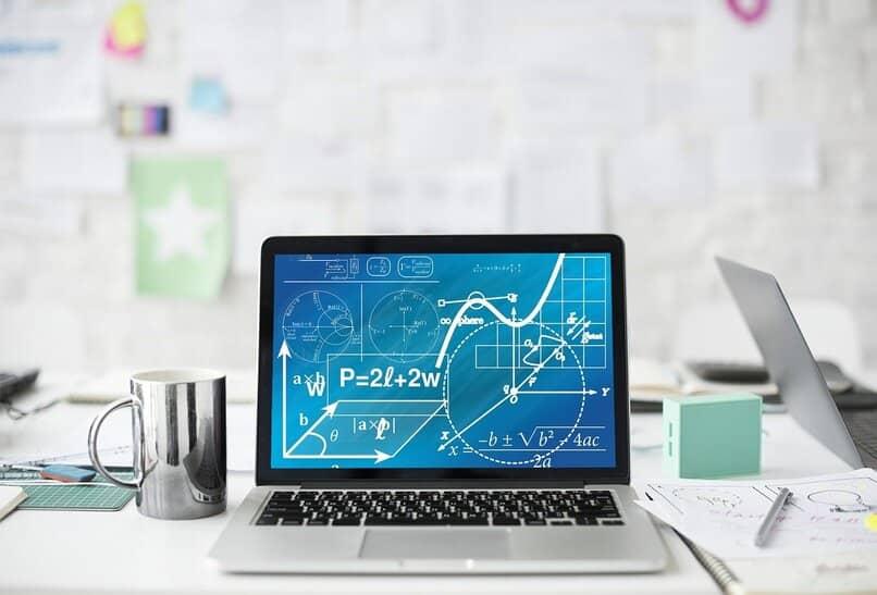 forma de poner exponentes y potencias en la pantalla de la laptop