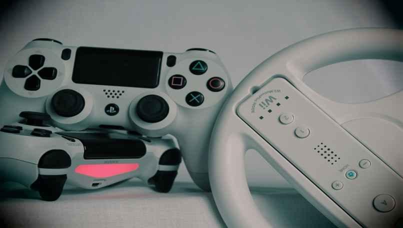 volante de manejo y controles de la consola ps4